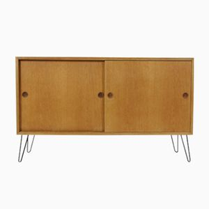 Oak Sideboard with Sliding Doors by Børge Mogensen, 1960s