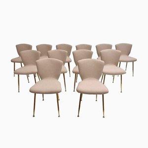 Mid-Century Esszimmerstühle von Louis Sognot für Arflex, 12er Set