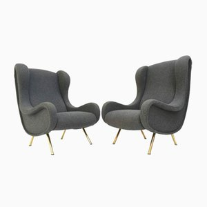 Mid-Century Senior Chairs by Marco Zanuso for Arflex, Set of 2