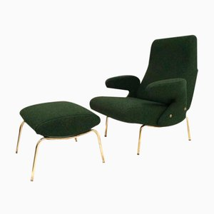 Delfino Lounge Chair & Ottoman by Erberto Carboni for Arflex, 1950s