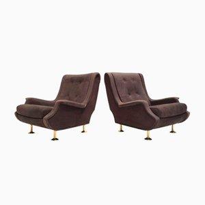 Nappa Leder Regent Sessel von Marco Zanuso für Arflex, 1960, 2er Set