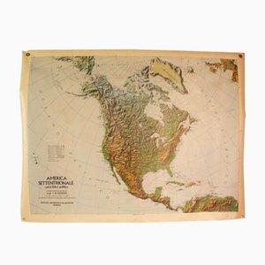 Mappa double face del Nord America, Italia, 1976