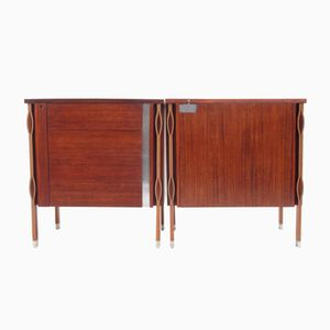 Rosewood Taormina Cabinets by Ico Parisi for MIM, 1958, Set of 2