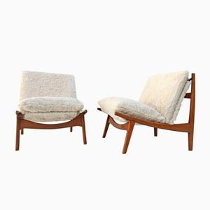 Model 790 Lounge Chairs by J.A. Motte for Steiner, 1960, Set of 2