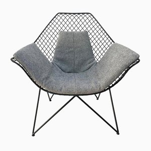 Vintage Sculptural DU43 Lounge Chair by Gastone Rinaldi for Rima