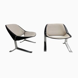 Vintage Lounge Chairs by Knut Hesterberg, 1970s, Set of 2