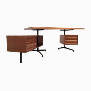 Vintage Model T95 Direzionale Desk with Swivel Drawer Units by Osvaldo Borsani for Tecno