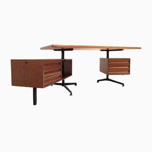 Vintage Model T95 Direzionale Schreibtisch mit Drehbaren Schubladen von Osvaldo Borsani für Tecno