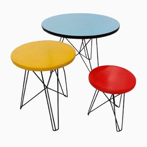Tables IJorst Situationnistes par Constant pour Spectrum, 1950s, Set de 3