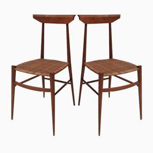 Modernistische Stühle von V. Negrello, 1950er, 2er Set