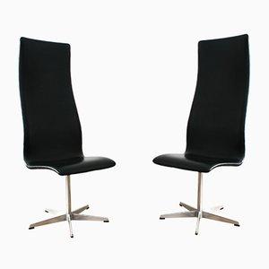 3172 Oxford Stühle von Arne Jacobson für Fritz Hansen, 2er Set