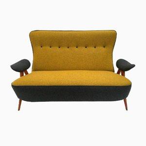 Modell 105 Sofa mit Gebogenen Beinen von Theo Ruth für Artifort, 1957