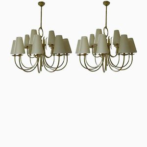 French Chandeliers, 1940s, Set of 2