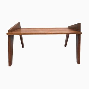 French Modernist Oak Coffee Table, 1950s
