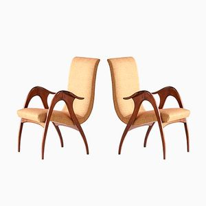 Sculptural Armchairs from Malatesta and Mason, 1950s, Set of 2