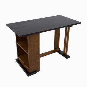 Art Deco Haagse School Desk by Cor Alons for L.O.V. Oosterbeek