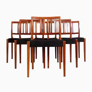 Palisander Esszimmerstühle von Nils Jonsson, 1960er, 6er Set