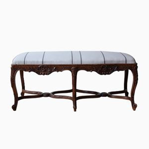 Antique Walnut Bench