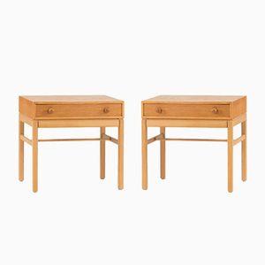 Bedside Tables by Sven Engström & Gunnar Myrstrand for Tingströms, 1960s, Set of 2