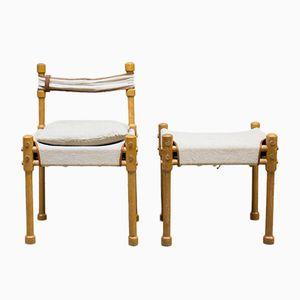 Vintage Easy Safari Chair & Stool