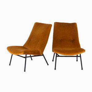 Chaises Basses Model SK660 par Pierre Guariche pour Steiner, 1950, Set de 2