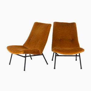 Niedrige Stühle Modell SK660 von Pierre Guariche für Steiner, 1950, 2er Set