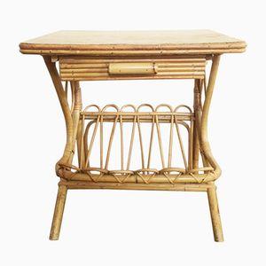 Table de Chevet en Rotin, 1960s