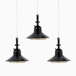 Italian Mid-Century Pendant Lights, 1950s, Set of 3