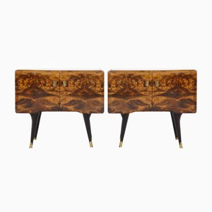 Vintage Italian Night Stands, 1940s, Set of 2