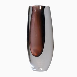 Vintage Swedish Glass Vase by Vicke Lindstrand for Kosta