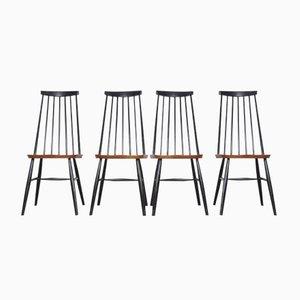 Mid-Century Holzspeichen Stühle, 4er Set