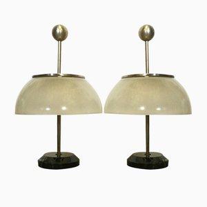 Italienische Mid-Century Tischlampen von Sergio Mazza für Artemide, 1956, 2er Set