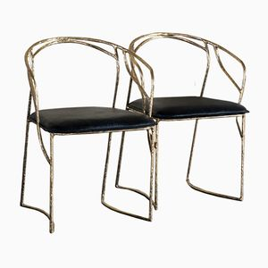 Bamboo Bronze Sculptural Chairs by Franco Mariotti for Edizioni Flair, 2016, Set of 8