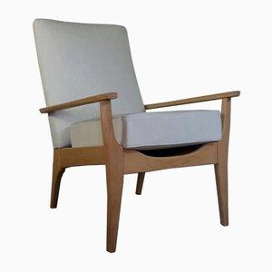 Britischer Mid-Century Armlehnstuhl mit Gepolstertem Sitz von Toothill