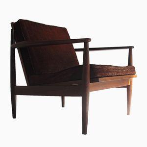 Mid-Century Danish Teak and Loose Cushion Armchair, 1950s