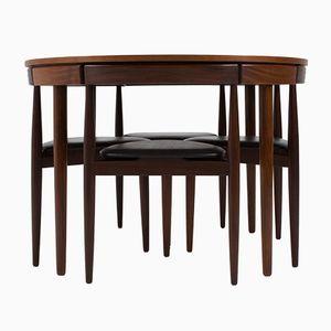 Mid-Century Roundette Esszimmerstühle mit Tisch von Hans Olsen für Frem Røjle Denmark, 1960er, 5er Set
