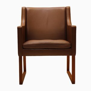 Vintage Danish Leather Armchair by Børge Mogensen for Fredericia