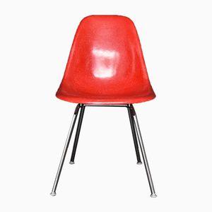 Vintage Beistellstuhl aus Roter Glasfaser von Charles Eames für Vitra