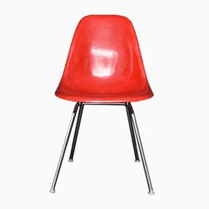 Vintage Red Fiberglass Side Chair by Charles Eames for Vitra