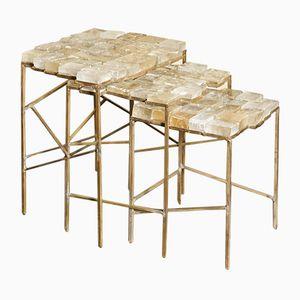 Tables d'Appoint par Franco Mariotti pour Edizioni Flair, 2017, Set de 3