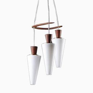 Danish Triple Pendant Lamp by Svend Aage Holm Sørensen, 1960s