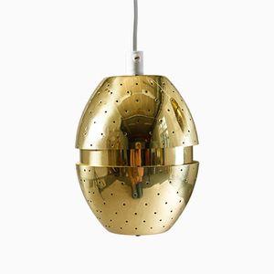 Lampe à Suspension en Laiton Perforé par Hans-Agne Jakobsson pour AB Markaryd, Suède, 1960s