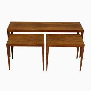 Vintage Rosewood Nesting Tables by Severin Hansen for Haslev