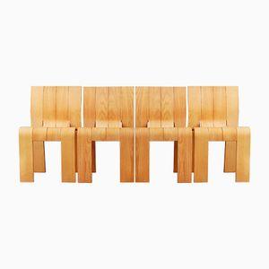 Vintage Strip Chairs von Gijs Bakker für Castelijn, 1974, 4er Set