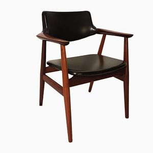 Rosewood Office Chair by Erik Kirkegaard for Glostrup, 1960s