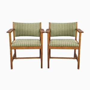 Dänische Vintage BM73 Armlehnstühle von Borge Mogensen für Fredericia Stolefabrik, 2er Set