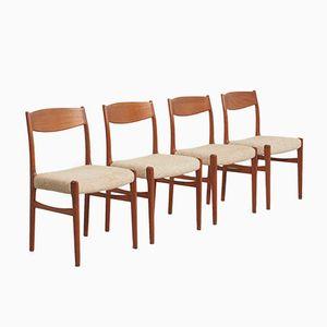 Mid-Century Esszimmerstühle von Glyngøre, 1960er, 4er Set