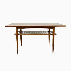 Table Basse avec Étagère en Teck, Allemagne,1950s