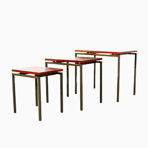 Dutch Rosewood Nesting Tables, 1960s