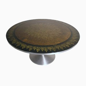 Hand-Decorated Dining Table by Poul Cadovius & Susanne Fjeldsoe Mygge for Cado, 1960s